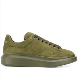 alexander mcqueen olive green sneakers